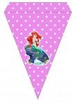 Kit digital pequena sereia ariel festa personalizados aniversario menina lembrancinhas rotulos caixinha personalizada bandeirinha