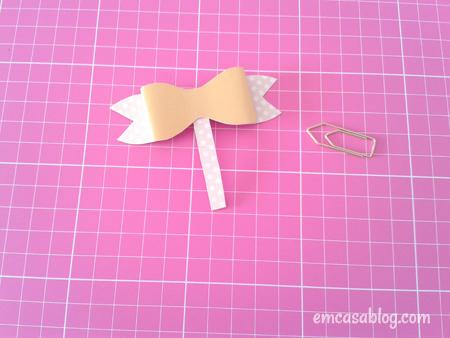 como fazer clip decorado laco papelaria volta as aulas decoracao caderno escolar 5