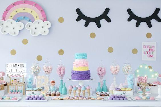 15 ideias decoracao festa aniversario unicornio festa infantil meninas 1