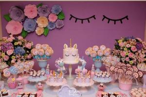 15 ideias decoracao festa aniversario unicornio festa infantil meninas 5