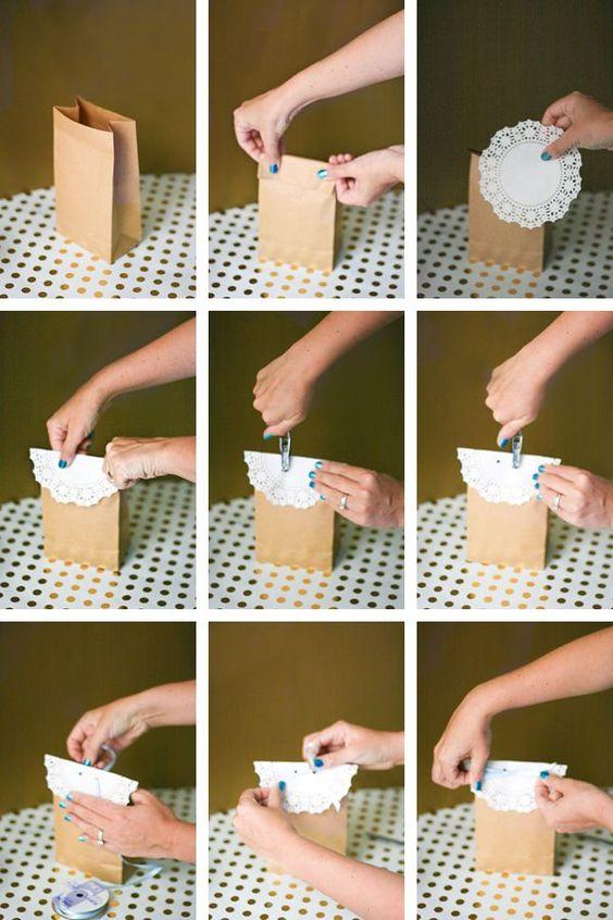 6 ideias lembrancinha porta guloseimas festa aniversario cha bebe batizado feito de papel 6